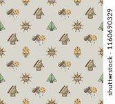 hand drawn seamless pattern ... | Shutterstock . vector #1160690329