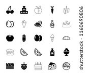 delicious icon. collection of...   Shutterstock .eps vector #1160690806