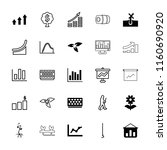 growth icon. collection of 25... | Shutterstock .eps vector #1160690920