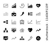 chart icon. collection of 25... | Shutterstock .eps vector #1160691109