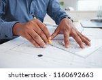 hands of professional engineer... | Shutterstock . vector #1160692663