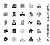 residential icon. collection of ... | Shutterstock .eps vector #1160693950