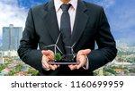 ecology concept hands holding...   Shutterstock . vector #1160699959