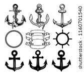 set of the vector anchors.... | Shutterstock .eps vector #1160701540