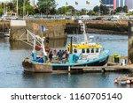 cherbourg octeville  france  ... | Shutterstock . vector #1160705140