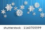 christmas illustration with... | Shutterstock .eps vector #1160705599
