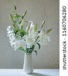 Beautiful White Lily In Vase O...