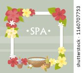 spa  vector illustration with... | Shutterstock .eps vector #1160707753