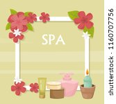 spa  vector illustration with... | Shutterstock .eps vector #1160707756