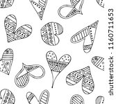 hand drawn seamless pattern ... | Shutterstock . vector #1160711653