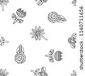 hand drawn seamless pattern ... | Shutterstock . vector #1160711656