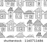 hand drawn seamless pattern ... | Shutterstock . vector #1160711686