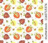 seamless hand drawn childish... | Shutterstock . vector #1160715376