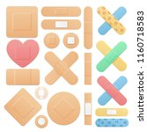 realistic detailed 3d color aid ... | Shutterstock .eps vector #1160718583