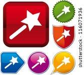 icon magic wand | Shutterstock .eps vector #116071936