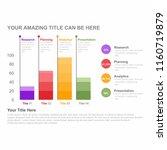 infographic bar chart template... | Shutterstock .eps vector #1160719879