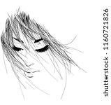 vector  stylish  original hand... | Shutterstock .eps vector #1160721826