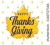 thanksgiving day. logo  text... | Shutterstock .eps vector #1160727166