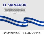 waving flag of el salvador ... | Shutterstock .eps vector #1160729446