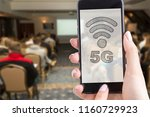 lte or 5g technology in the... | Shutterstock . vector #1160729923