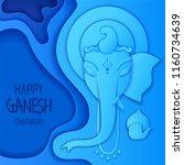 illustration of lord ganpati... | Shutterstock .eps vector #1160734639