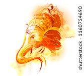 illustration of lord ganpati... | Shutterstock .eps vector #1160734690