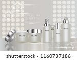 beauty product  white cosmetic...   Shutterstock .eps vector #1160737186