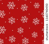 repeated snowflakes drawn by... | Shutterstock .eps vector #1160740450