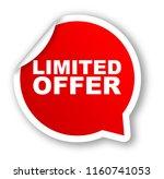 red vector banner limited offer   Shutterstock .eps vector #1160741053