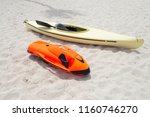 red sea bob and kayak on the... | Shutterstock . vector #1160746270