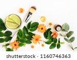 botanical herbal beauty... | Shutterstock . vector #1160746363