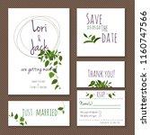 wedding invitation card set.... | Shutterstock .eps vector #1160747566