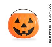 pumpkin basket isolated on... | Shutterstock . vector #1160747800