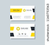 modern business card template... | Shutterstock .eps vector #1160753563