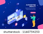 augmented reality visualization ...   Shutterstock .eps vector #1160754253