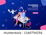 analyst  financial banner.... | Shutterstock .eps vector #1160754256