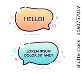 set of vector bold dashed... | Shutterstock .eps vector #1160757019