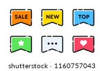 set of vector bold dashed... | Shutterstock .eps vector #1160757043