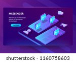 vector 3d isometric template of ... | Shutterstock .eps vector #1160758603