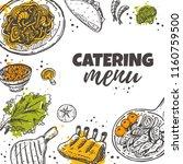 catering menu concept design.... | Shutterstock .eps vector #1160759500