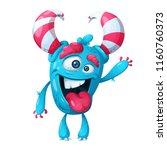 funny  cute crazy monster... | Shutterstock .eps vector #1160760373
