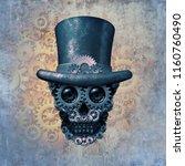 steampunk skull concept or... | Shutterstock . vector #1160760490