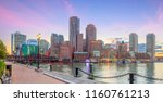 boston harbor and financial... | Shutterstock . vector #1160761213