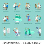group of doctors vector banner... | Shutterstock .eps vector #1160761519