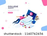 teaching and research  college... | Shutterstock .eps vector #1160762656
