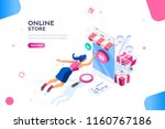 concept of young buyer online... | Shutterstock .eps vector #1160767186