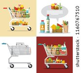 food and drinks in shopping... | Shutterstock .eps vector #1160767510