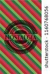 nostalgia christmas emblem. | Shutterstock .eps vector #1160768056
