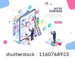 job presentation fair banner... | Shutterstock .eps vector #1160768923