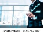 businessman pointing glow... | Shutterstock . vector #1160769409